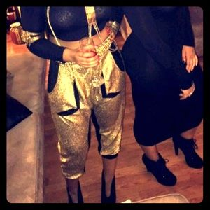 Gold and black Jeanie pants